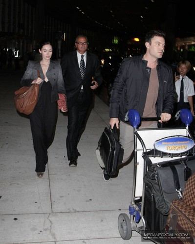 Megan - Arrives into Toronto International Airport - September 08, 2011