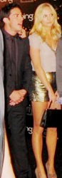 Michael Trevino & Candice Accola @ CW Party