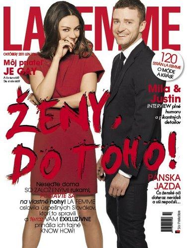 Mila Kunis & Justin Timberlake for La Femme Slovakia October 2011