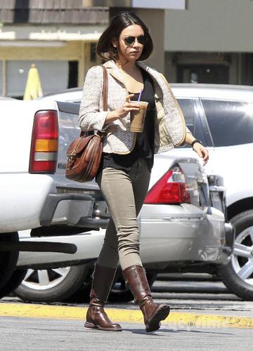 Mila Kunis getting an iced coffee in Studio City, Sep 11