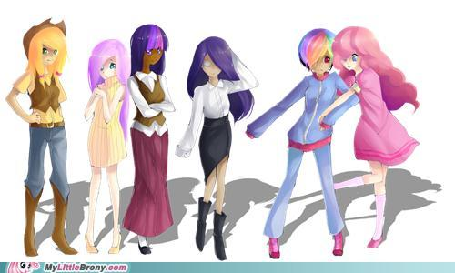 My Little gppony, pony characters as humans! <3