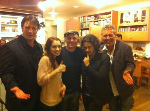 Nathan, Felicia Day, Edgar Wright, Tony Head and Simon Pegg