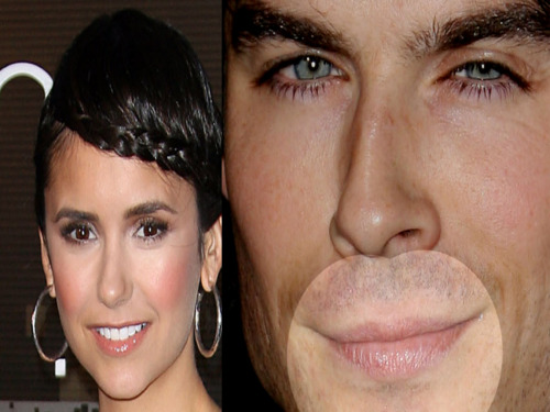 ian somerhalder dan nina dobrev wallpaper with a portrait titled Nian <3
