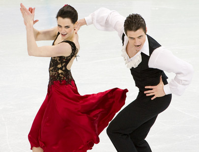 Tessa Virtue & Scott Moir wallpaper probably containing a cocktail dress and a dress titled OD 2010 -Farrucas