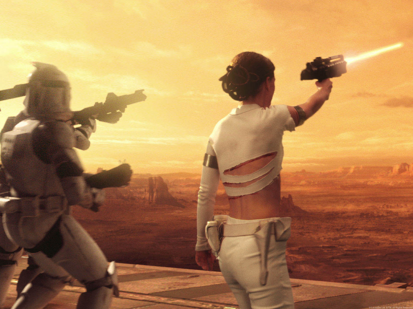 Padme Back View