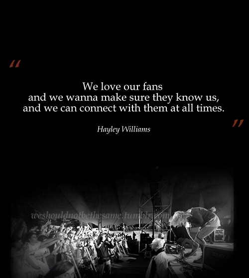 Paramore quotes - Paramore Fan Art (25271520) - Fanpop Paramore Song Quotes