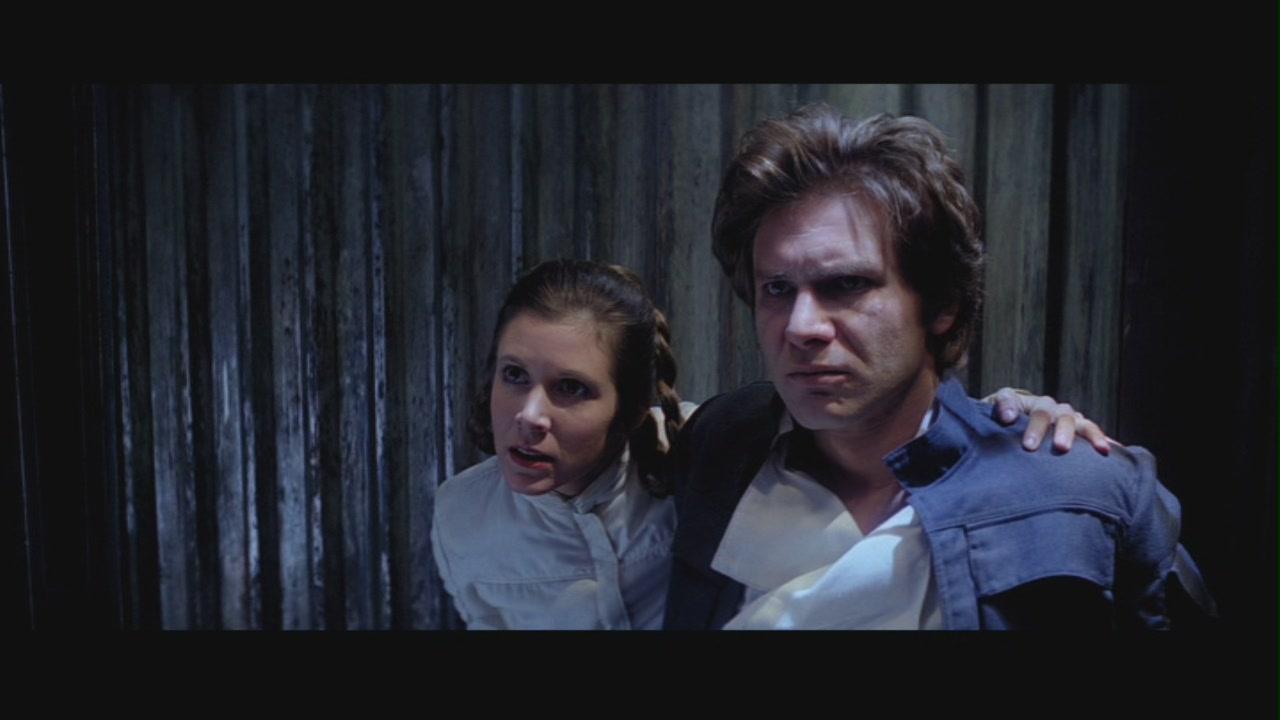 "Princess Leia & Han Solo in ""Star Wars Episode V: The Empire Strikes Back"""