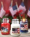 Red, White and Blue - candles screencap