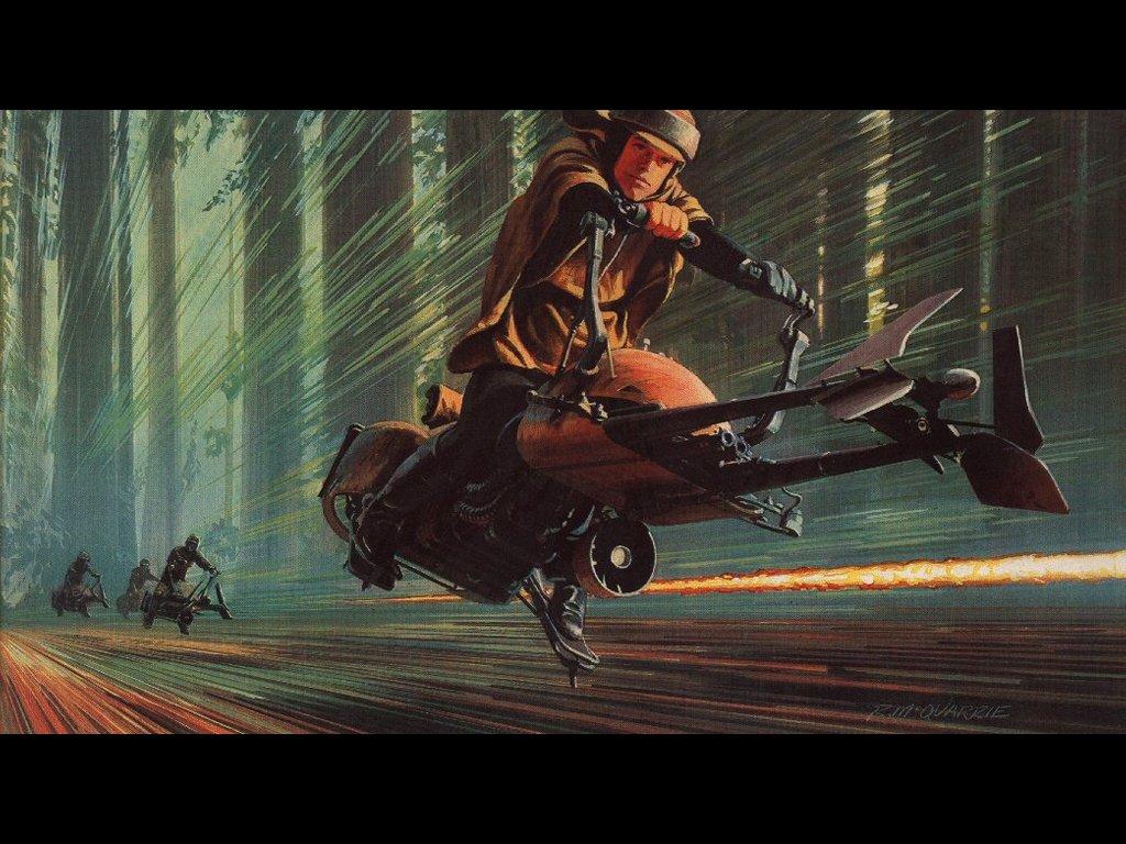 Return Of The Jedi Pursuit In Endor La Guerra De Las