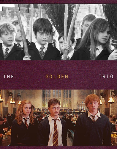Ron, Harry and Hermione ♥