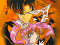 Sailor chibi moon and Tuxedo mask - sailor-moon wallpaper