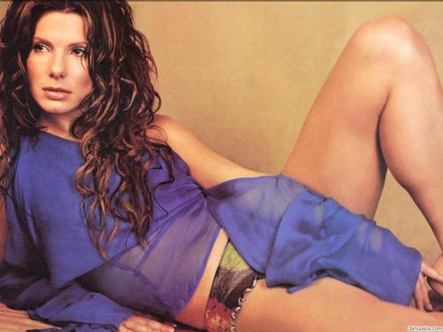 Sandra Bullock wallpaper possibly with a chemise, attractiveness, and a playsuit entitled Sandra Bullock