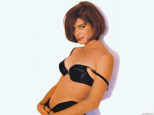 Sandra Bullock wallpaper possibly containing a brassiere, attractiveness, and a lingerie titled Sandra Bullock
