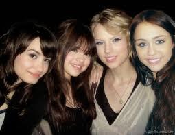Selena Gomez, Miley Cyrus, Taylor Swift, Demi Lovato