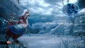 Serah riding a red chocobo - final-fantasy-xiii-2 screencap