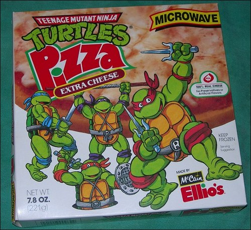 Whatever happened to..... wallpaper containing anime called Ninja Turtles frozen pizza