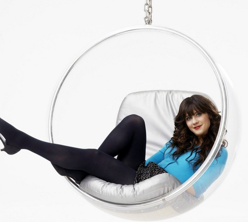 Zooey Deschanel wallpaper possibly with bare legs, tights, and a leotard entitled The New Girl Promo