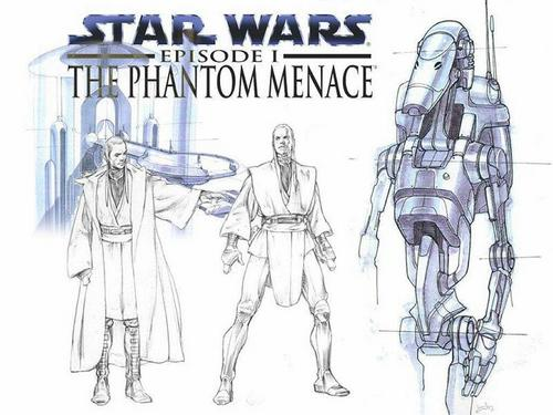 The Phantom Menace- Sketches