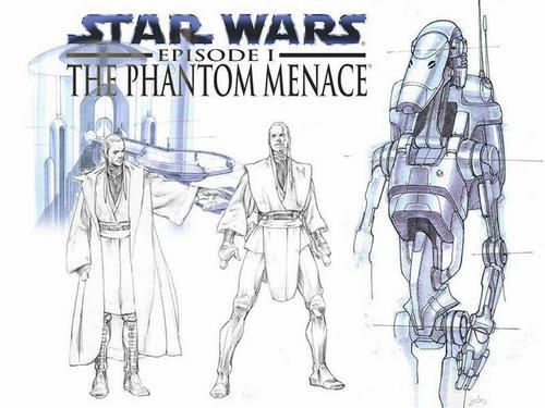 The Phantom Menace- Sketches