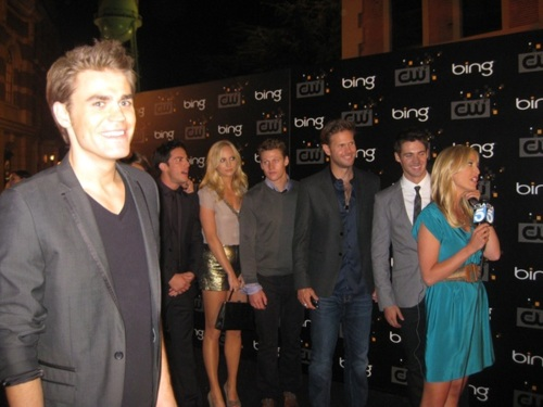 The Vampire Diaries Casts at The CW Party (September 10, 2011)