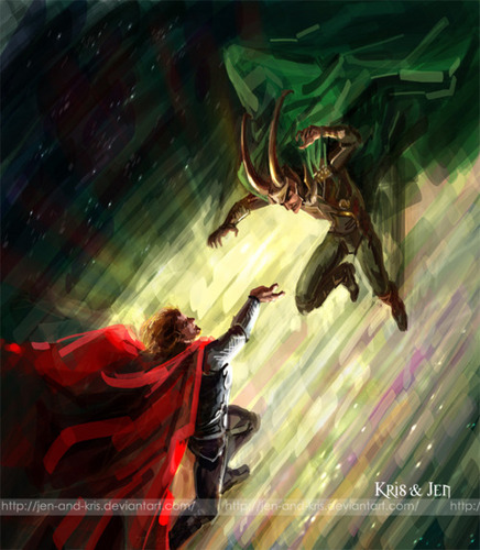 Thor and Loki Battle