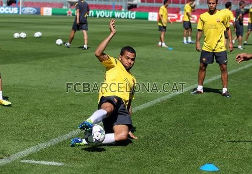 Training Session before CL game vs AC Milan