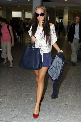 Tulisa Contostavlos at Heathrow Airport