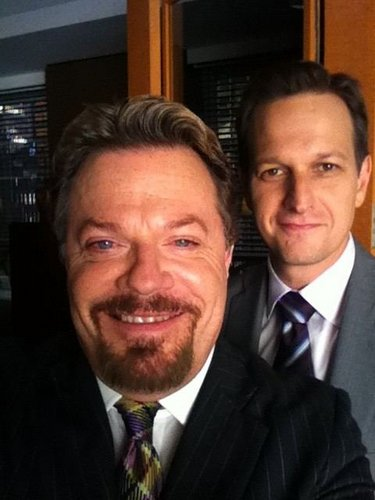 Twitter Photos, Eddie Izzard with Josh Charles - the-good-wife Photo