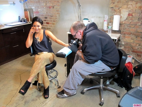 Vanessa Getting a Tattoo in NYC