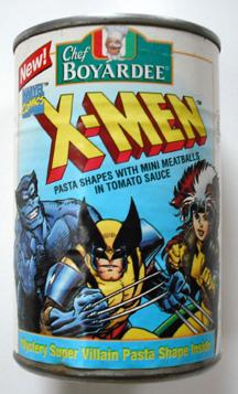 X-Men massa, massas alimentícias