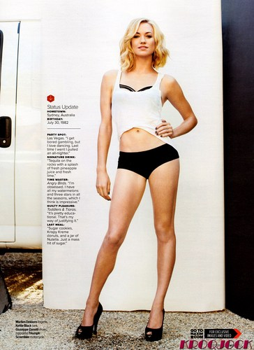 Yvonne Strahovski wallpaper probably with a maillot and a leotard called Yvonne Strahovski in the October 2011 Issue of Maxim Magazine (HQ)