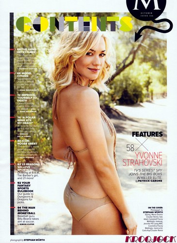 Yvonne Strahovski in the October 2011 Issue of Maxim Magazine (HQ)