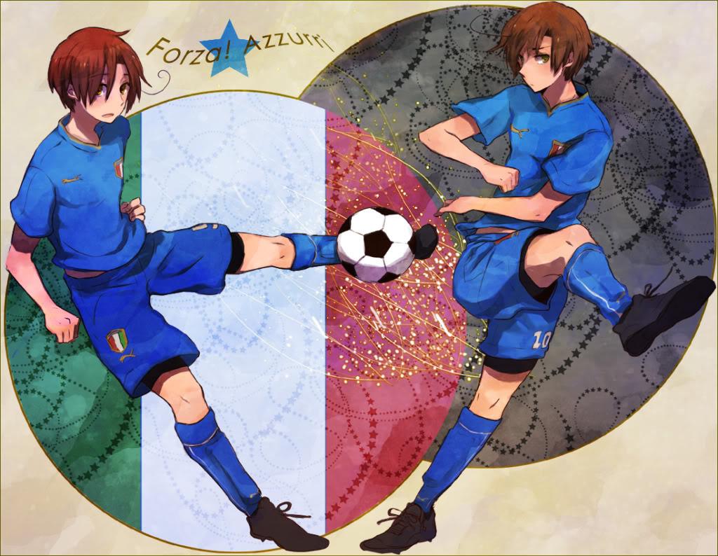 картинки аниме футбол: