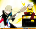 rocking out! - soul-eater wallpaper