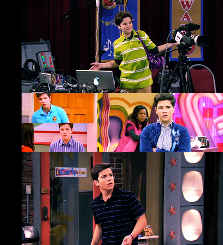 텔레비전 바탕화면 possibly with a sign entitled seddie / iCarly
