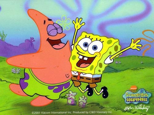 spongebob and pat