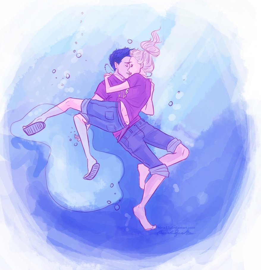 The Best Underwater Kiss Ever Percy Jackson And Annabeth Chase Fan