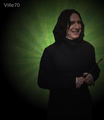 A happy Severus. - severus-snape fan art