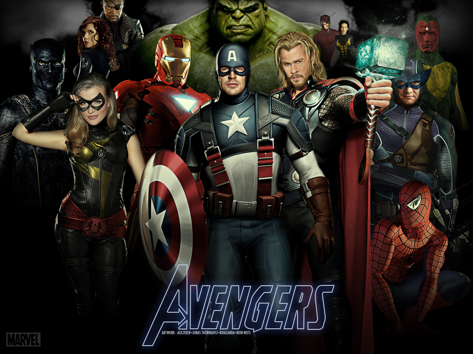 Marvel comics all avengers