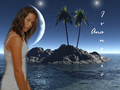 Ana Ivanović in Moon Lit Paradise - wta wallpaper