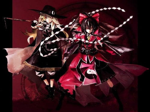 Belmont (Reimu) and ??? (Marisa)
