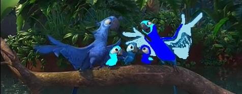Blu and Rachel's kids