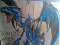 Blue Ice White Dragon - yu-gi-oh fan art