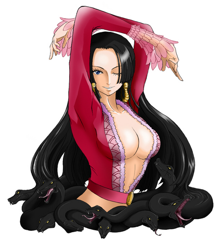 one piece wallpaper entitled boa, jiboia Hancock