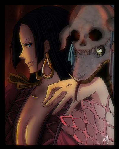 One Piece achtergrond called boa Hancock