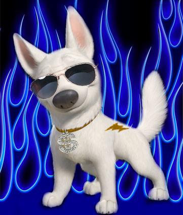 bolt Disney Hintergrund with sunglasses titled Bolt