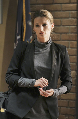 스타나 카틱 바탕화면 possibly with a hip boot, an outerwear, and a well dressed person titled Castle_4x01_Rise_Promo pics