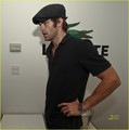 Chris Pine & Father Robert: Lacoste Suite at US Open! - chris-pine photo