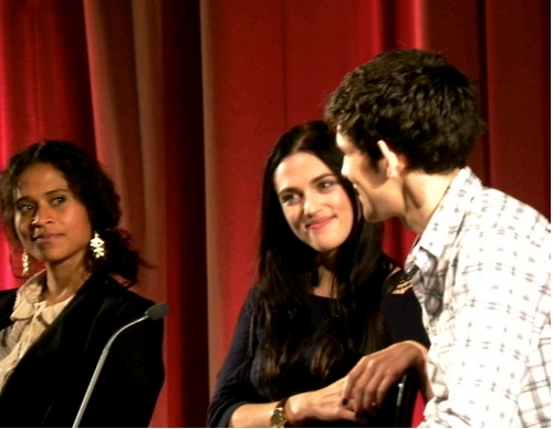 Colin and Katie at season 4 world premiere Q&A and cast pics