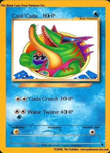 Cool 'Cuda Pokemon Card